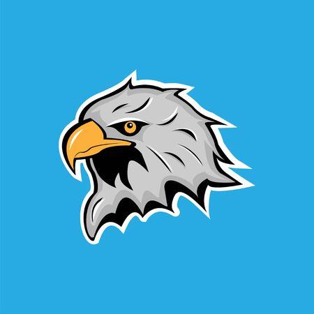 Agresive eagle head mascot