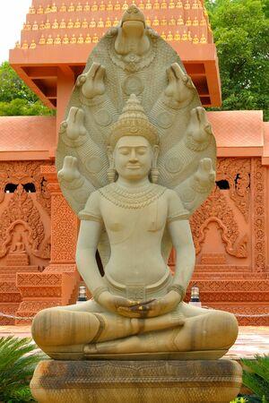 praye: Buddha statues in Thailand  Stock Photo