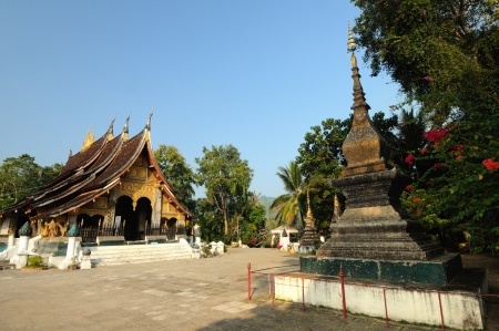 The highlight of the visit to the city of Luang Prabang is inevitable to visit Wat Xieng Thong, Laos  photo