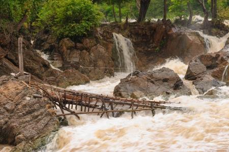 Fishing equipment in Con Pa Peng waterfall, Laos  photo