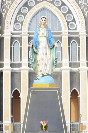 saint mary: Virgin Mary Statue in Roman Catholic Church place belief of community Chanthaburi, Thailand