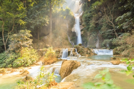 Beautiful Kuang Si waterfalls at Laos  photo
