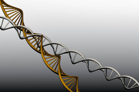 Model 3 D of twisted DNA, rander capture  photo