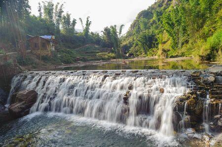 sa: Little Tien Sa water fall in Sapa, Vietnam.