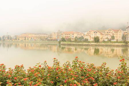 sapa: Foggy in Sapa lake , Vietnam.
