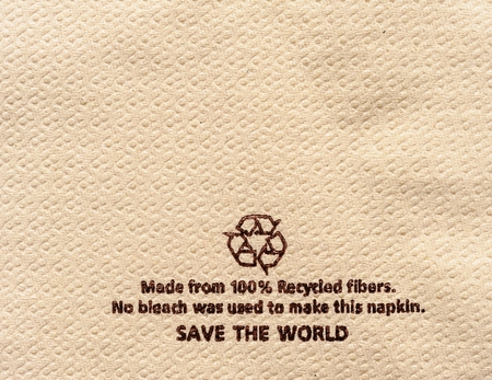 compensate: Recycle tissue  background.