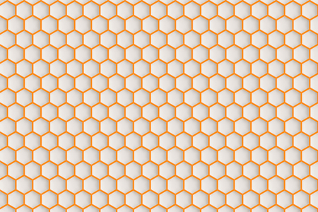 patterned: Hexagonal patterned surface in background.