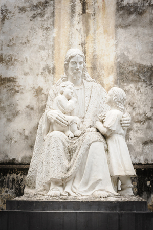 statuary: Statuary of Jesus Christ in the St. Josephs Cathedral in Hoan Kiem Hanoi, Vietnam. Stock Photo