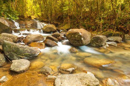 great smokies: Fresh waterfall stream in the rainforest, Thailand.