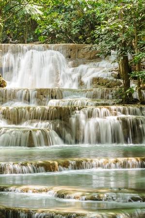 khamin: Huay Mae Khamin waterfall in National Park, Kanchanaburi Province ,Thailand.