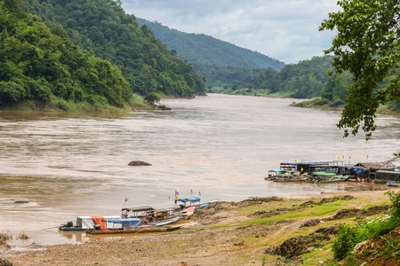 sop: Port Salween River Mae Sam Lab Subdistrict Sop Moei district  Mae Hong Son province, Thailand.