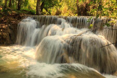Detail of Tat Guangxi waterfall, Luang Prabang, Laos.