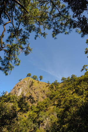 Sunny day at Doi Pha Ngom, Khun Chae National Park, Wiang Pa Pao district of Chiang Rai Province Thailand. Stock Photo