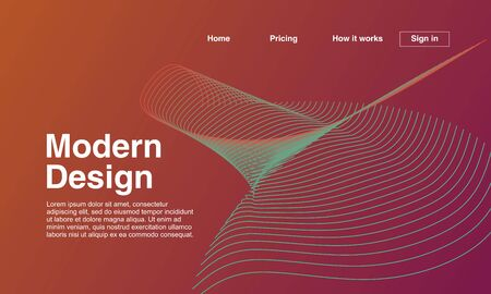 Abstract geometric modern design. Landing page background template. vector illustration.