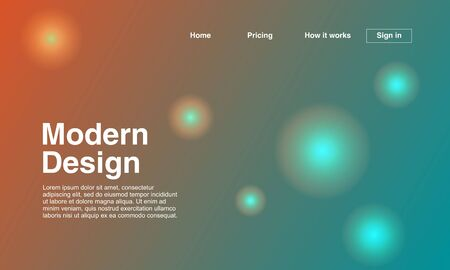 Futuristic design of landing page with geometric abstract background multicolor. Vector illustration eps 10.