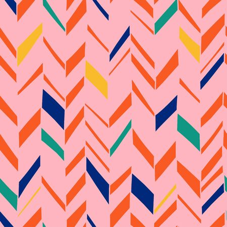 Herringbone pattern with scandinavian artistic colorful background seamless abstract geometric design minimalist decor vector illustration ready for print.