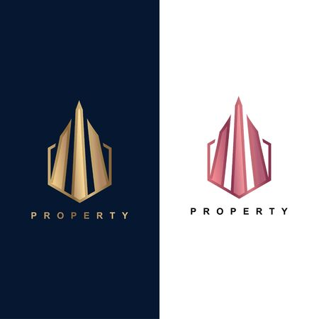 Plantilla de logotipo de símbolo de edificio de icono de propiedad de moda para empresa residencial Logos