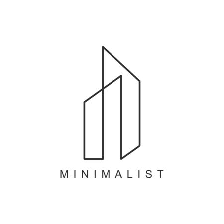 minimalist Real Estate Logo Design Vector Illustration simple design