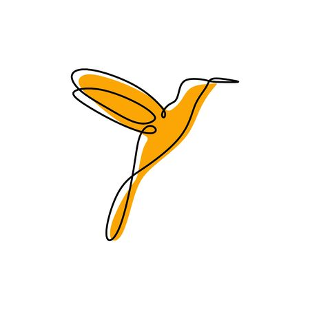 bird one line drawing minimal design Illustration
