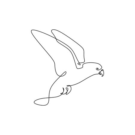 Continuous line bird drawing minimalism vector illustration trendy for poster minimalist design