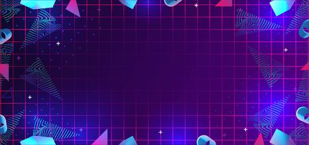 neo memphis abstract background with 80s geometric elements decoration.