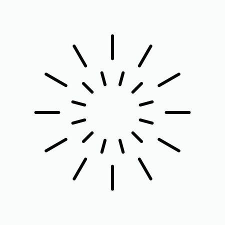 Icon light abstract vector. Iconic symbol. Ilustração