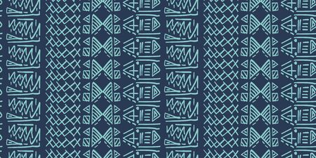 Tribal pattern vector with seamless egyptian symbol ancient style. Vintage illustration background for fashion textile print and wrapping. Standard-Bild - 128952650