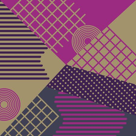 Geometric memphis abstract pattern background vector illustration