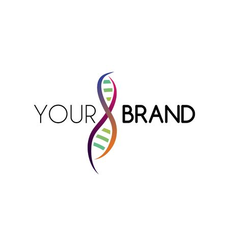 DNA logo template vector. Good for biological and medicine company.