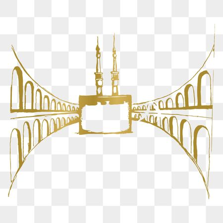 Mecca vector with hand drawn style. Illustration