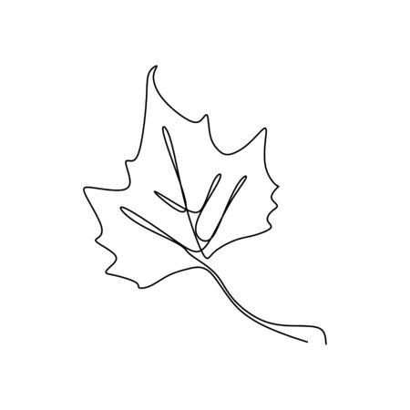 Maple leaf continuous one line drawing minimalism design Foto de archivo - 129164308