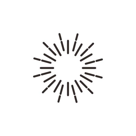 Shiny sun explotion effect icon abstract symbol vector illustration isolated on white background Иллюстрация
