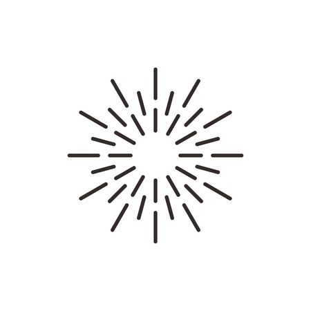 Sunbrust explotion effect icon abstract symbol vector flat design on white background.