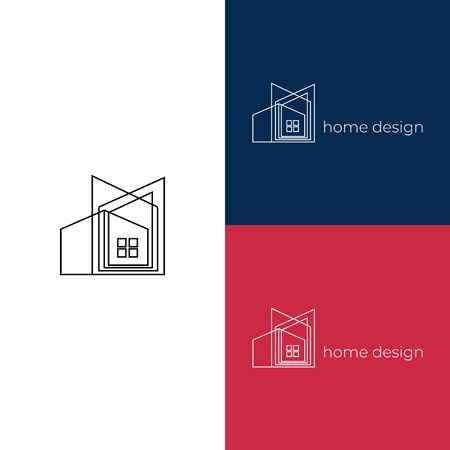 Creative home design decoration logo. Good for architect branding or housing agency. Stockfoto - 129511968