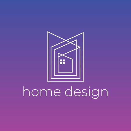 Creative home design decoration logo. Good for architect branding or housing agency. Stockfoto - 129510063