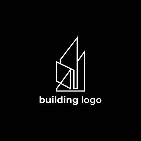 unique logo abstract for building logo. Illusztráció