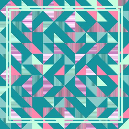 Punchy pastel triangle memphis abstract geometric pattern background. 일러스트