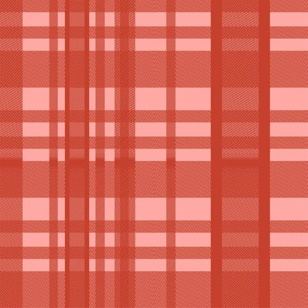 Seamless tartan scottish lumberjack red color pastel. Colorful trendy feminine fashion background ready for print.