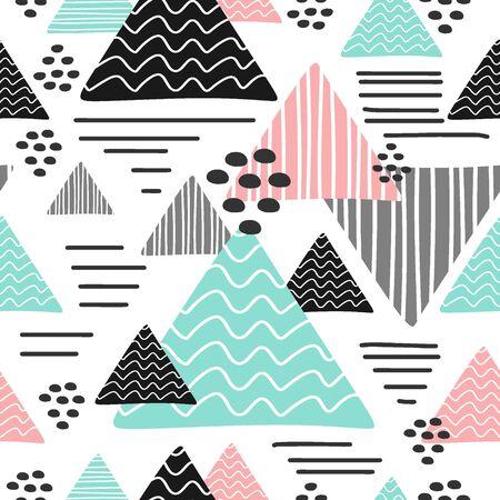 Patrón de triángulo de moda transparente multicolor