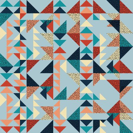 Seamless triangle pattern abstract background with geometric texture for scarf and hijab trendy.