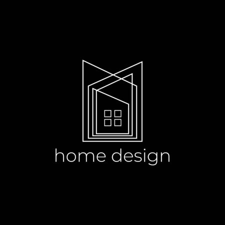 Creative home design logo with abstract line Stockfoto - 129510998