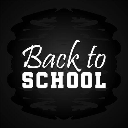 Back to school banner with minimalist modern style background. Chalkboard square vector illustration.  イラスト・ベクター素材