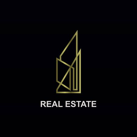real estate line logo luxury
