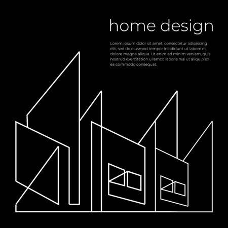 Home design banner poster template vector illustration.