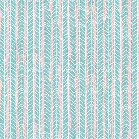 Bright colors of blue of chevron herringbone hand drawn seamless pattern vector. Illustration