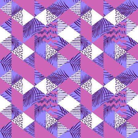 Modèle sans couture abstrait triangle géométrique féminin