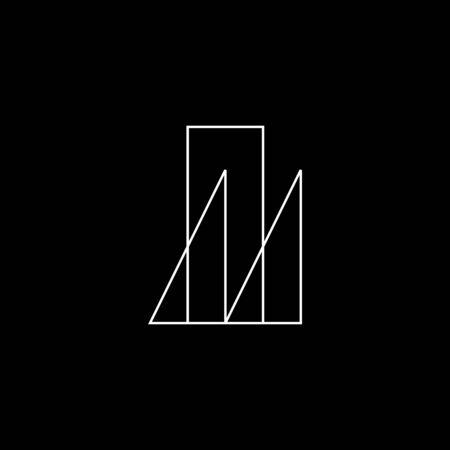 Architect logo abstract template. Unique symbol vector illustration. Иллюстрация