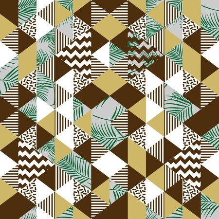 Fashion trendy memphis triangle exotic pattern Çizim
