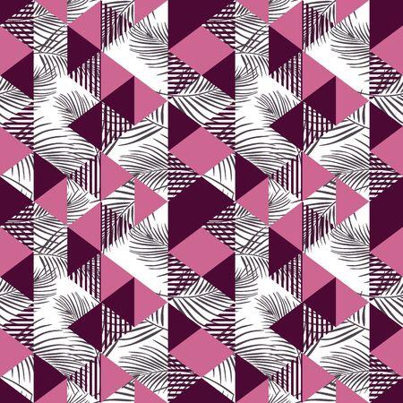 Seamless triangle multicolor pattern Stock Vector - 129420169