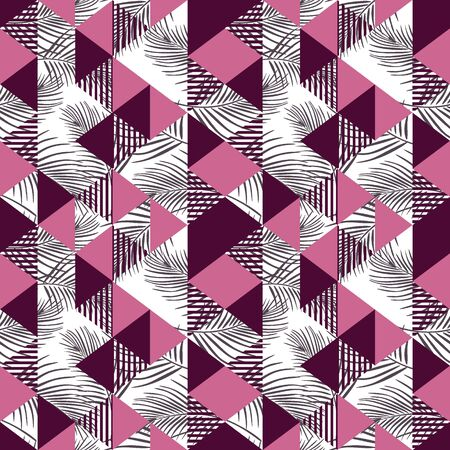 Seamless triangle multicolor pattern Illustration